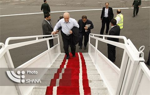 Zangeneh Leaves Tehran for Beijing