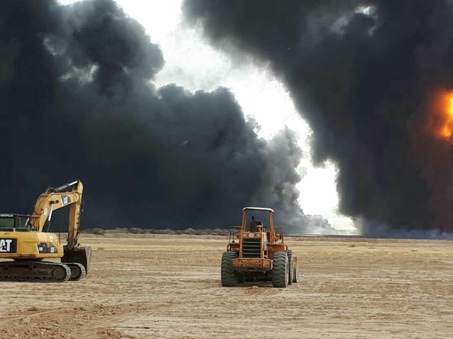 Fire under Control at Oil Pipeline in Southwest Iran