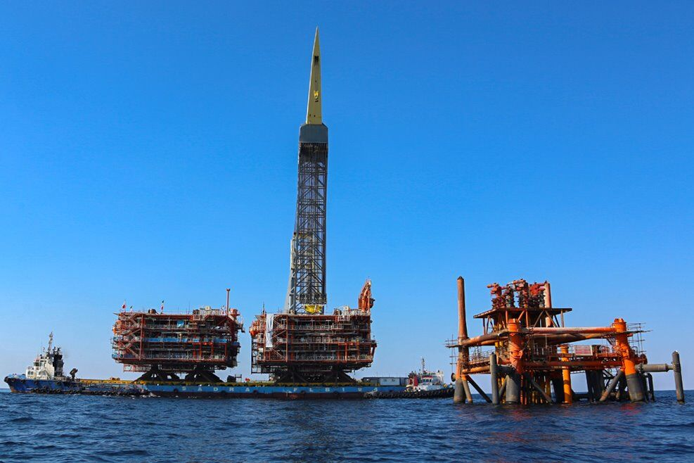 3rd Offshore Platform of Phases 22-24 Installed