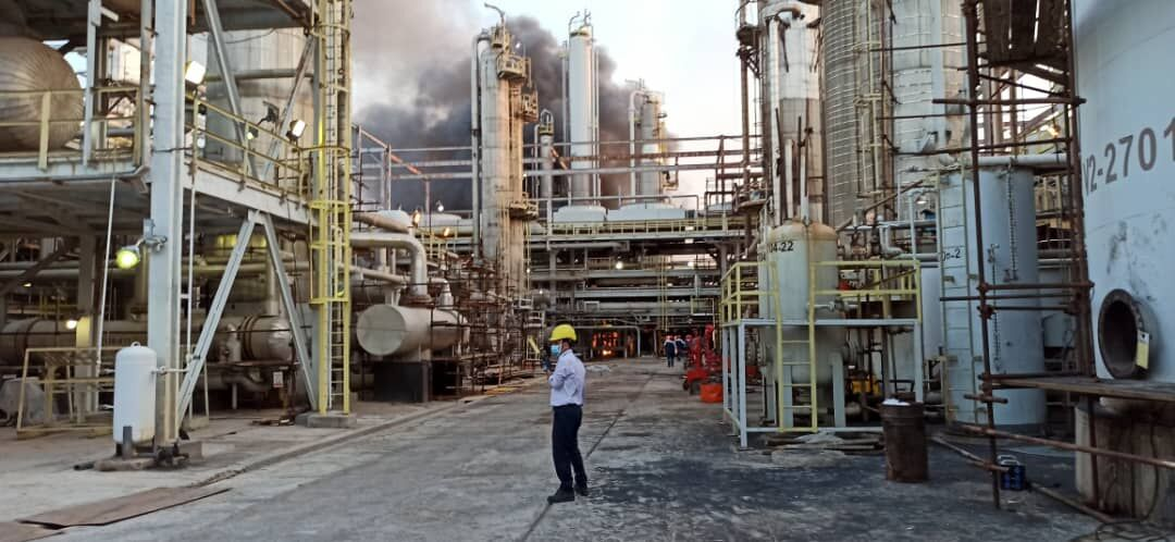 Fire at Khark Petrochemical Plant Contained